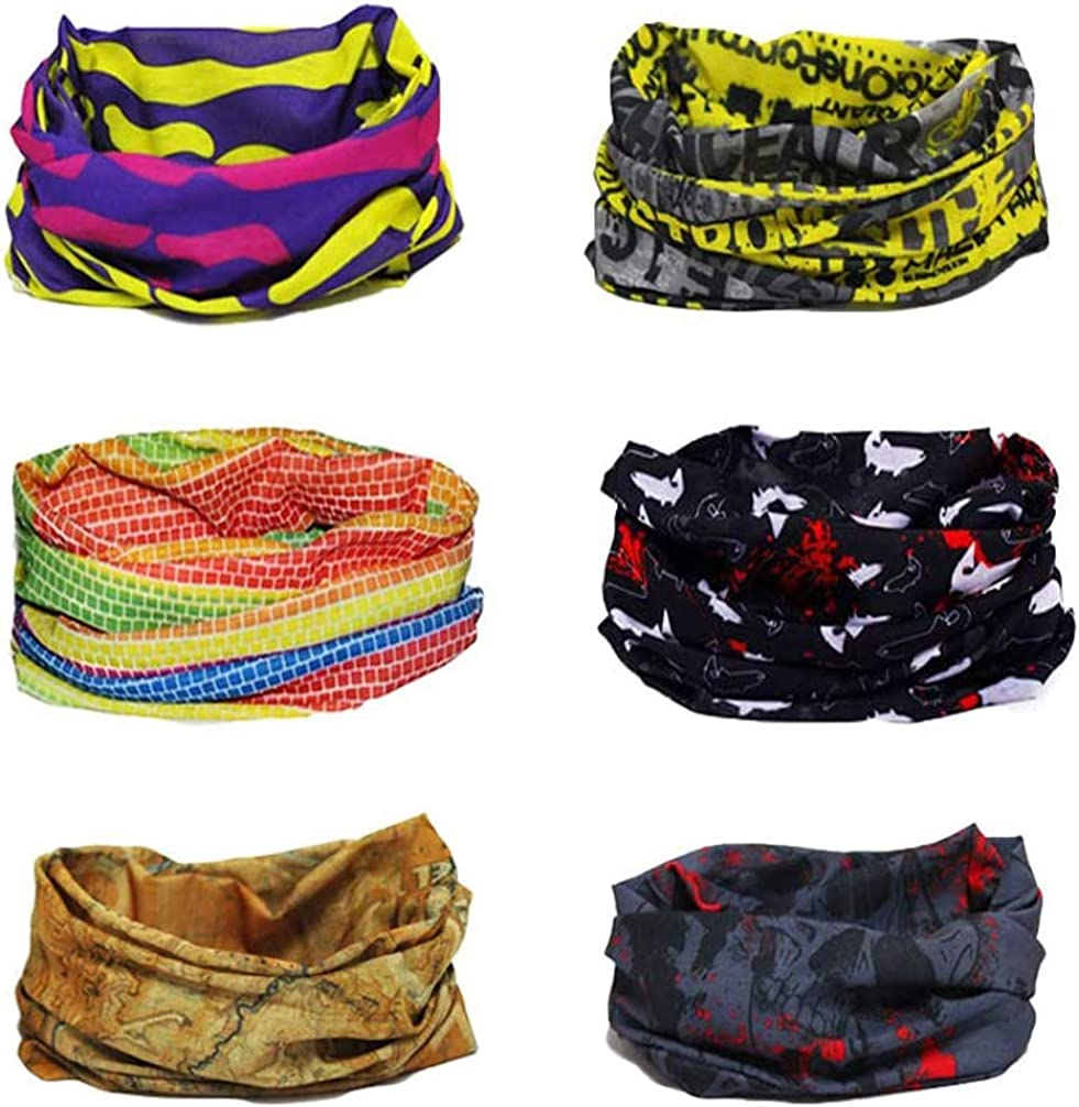 bandana protezione per il collo bandana 1 pezzo sciarpa Rullaco bandana lavabile passamontagna protezione per il viso protezione UV