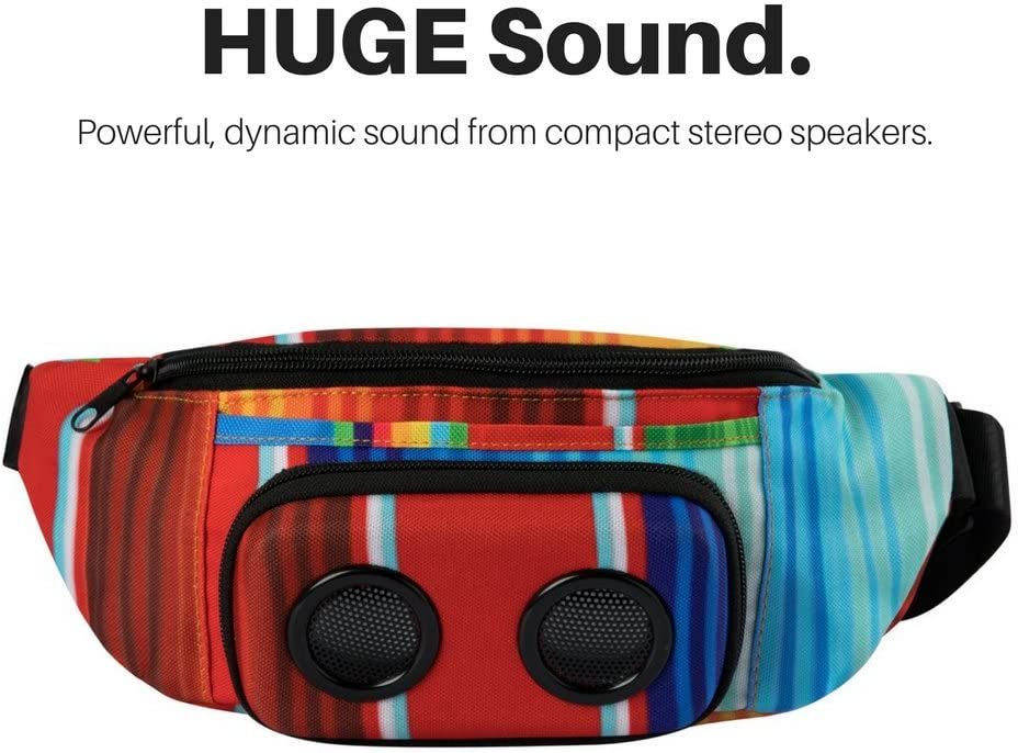 Bluetooth Fanny Pack for Parties//Festivals//Raves//Beach//Boats Rechargeable #1 Bachelorette Party Gift Rainbow, 2019 Edition The #1 Fannypack with Speakers Works with iPhone /& Android