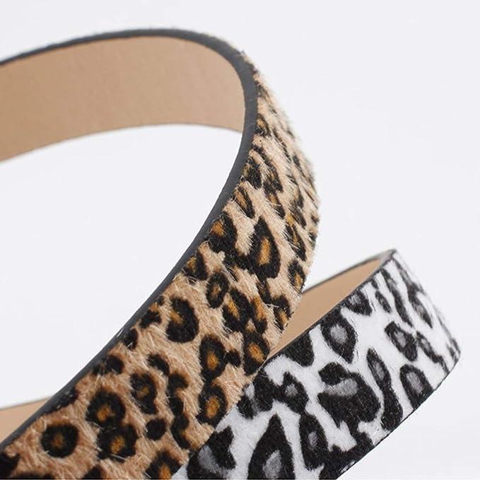 Damas Moda Correas Suaves Cintura para Pantalones Vaqueros Vestidos KRUIHAN Mujeres Delgado Cintur/ón Cuero Ajustables