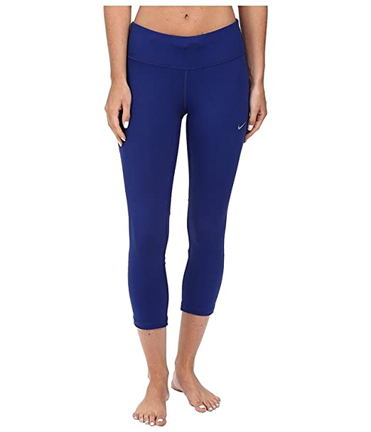 6e479731cd256 Amazon.com: NIKE Women's Dri-Fit Epic Run Crop Running Tights-Blue ...