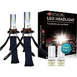 LED Headlight Bulbs Conversion Kit - 4WDKING 9006 HB4 Fanless Copper Braid Heat Dissipation Super Bright Low Beam Fog…