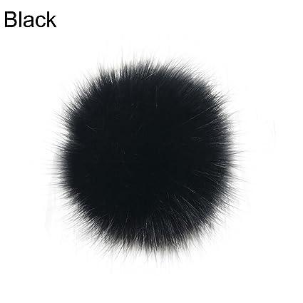 14cm//16cm Fluffy Faux Fur PomPom DIY Car Handbag Keychain Key Ring Ball Pendant