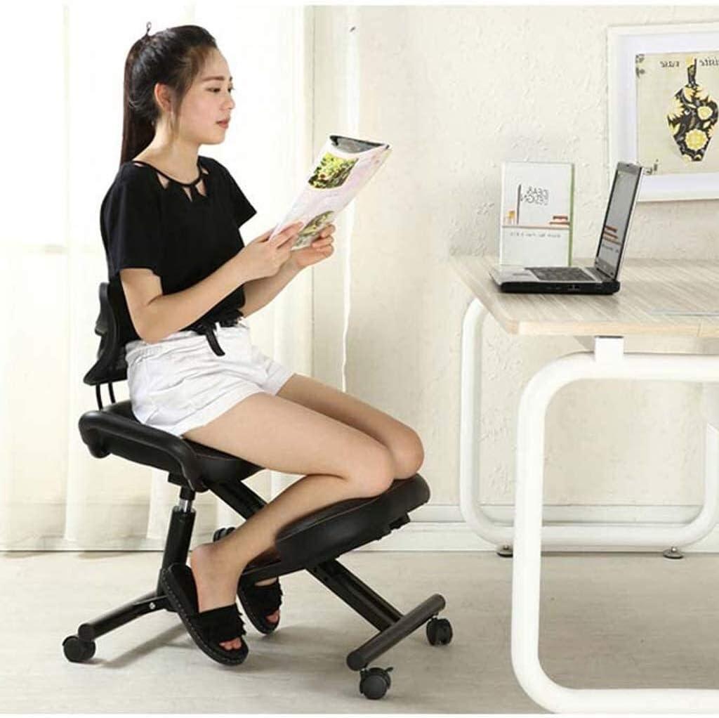 ZHJING Chaise ergonomique ergonomique de bureau avec protection dorsale pour améliorer la posture de la circulation sanguine Noir
