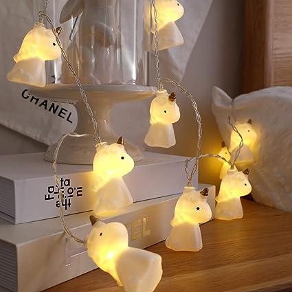 buy popular 12da6 aaa3d AceList 10 LED Children's Room Cute Animal Unicorn LED String Lights for  Holiday Lights Wall Window Tree Decorative Lights Party Yard& Garden Kids  ...