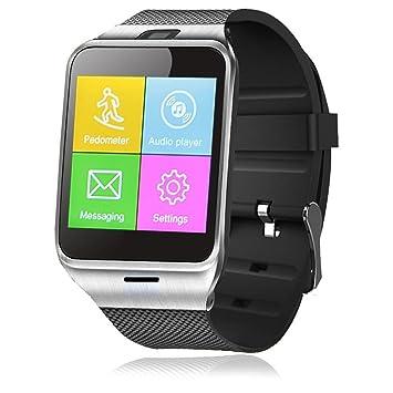 Amazon.com: Generic GV18 Bluetooth Smart Watch Phone 1.55 ...