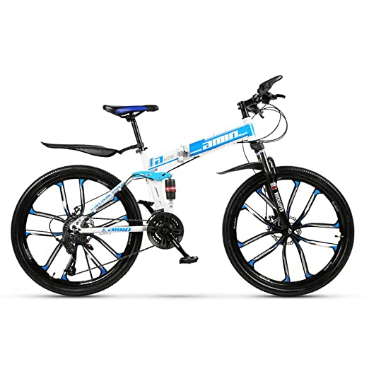 H-LML Bicicleta Plegable de montaña Velocidad 26 Pulgadas ...