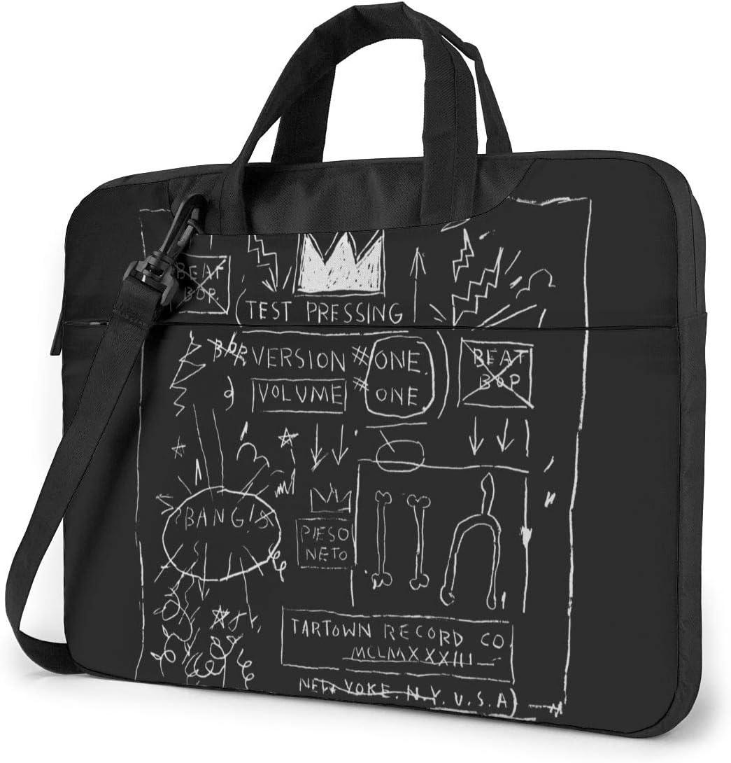JuaoHuan Jean Michel Basquiat Laptop Shoulder Messenger Bag Case Briefcase Sleeve for 13 Inch 14 Inch 15.6 Inch Laptop Case 15.6 Inch