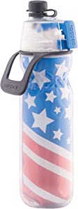 O2COOL Classic Insulated Elite Water Bottle, Mist 'N Sip, 20 oz, Patriotic