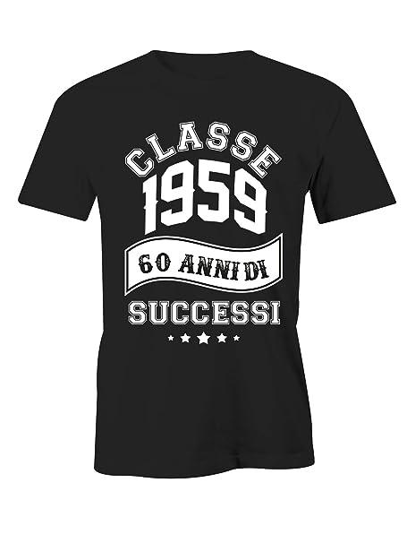 Puzzletee - Camiseta cumpleaños 1959 60 años de éxitos ...