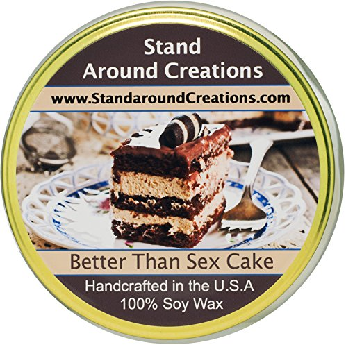 Premium 100% Soy Tureen Candle - 11 oz. - Better Than Sex Cake: German chocolate cake w/ chocolate chips w/ toffee bits. Vanilla creme and butterscotch syrup w/ hints of almond w/ coconut. by Stand Around Creations