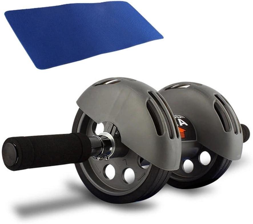 la musculation musculaire avec trois roues MZZ Entra/îneur abdominal avec repose-genoux AB Wheel avec tapis de genou pour le fitness
