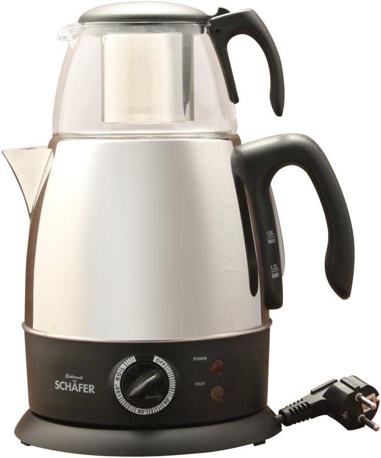 SCHÄFER Samowar Teemaschine Thermo Elektrischer Teekocher Teekanne 2,2 Liter