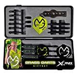 Longfield Darts Unisex Adult Dart Giftset Brass In Case - Black/Green, X