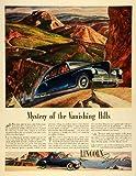 zephyr hills - 1941 Ad Lincoln Motor Car Division Ford Co Blue Zephyr V-12 Automobile Hills - Original Print Ad