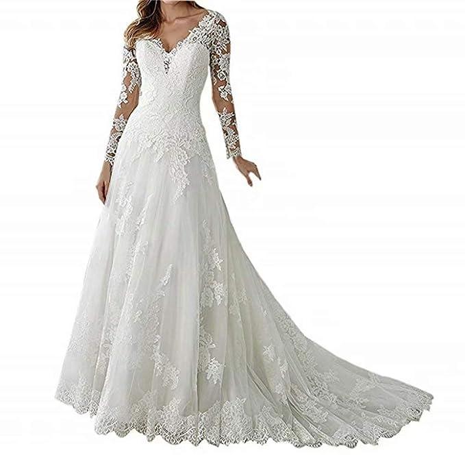 Amazon.com: Fishlove Vestido de boda de princesa elegante de ...