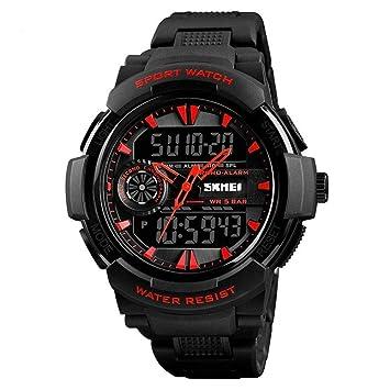 WULIFANG Mens Sports Watch Reloj Digital De Cuarzo Reloj De Mujer Piscina 2 Tiempo 12/