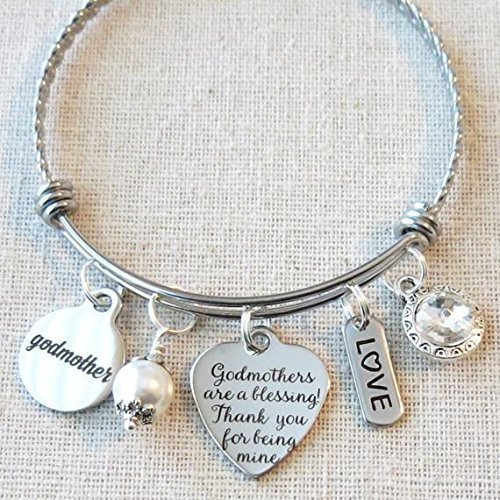 GODMOTHER GIFT, Godmother Bracelet, Gift From Godchild, Gifts For Godmothers, Godmothers Are A Blessing Thank You Charm From Goddaughter Godson