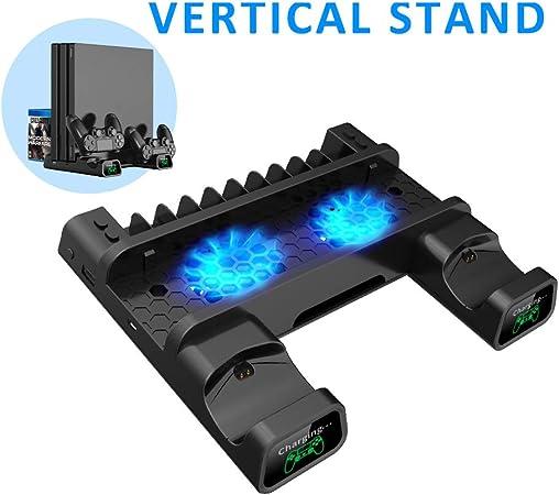 WXJHA Soporte Dual Vertical de refrigeración del Cargador del ...