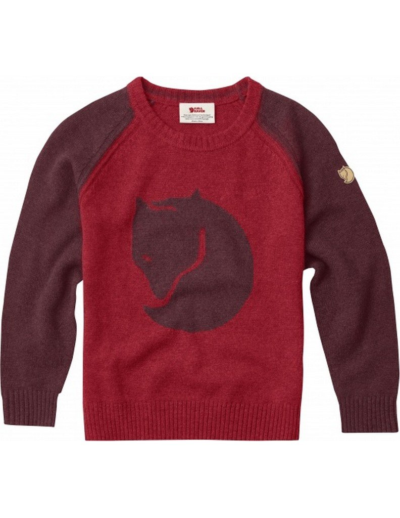 Fjallraven Kids Fox Sweater, Dark Garnet, 122