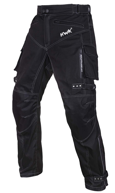 Motorcycle Pants Motocross Moto Motorbike Riding Overpants Waterproof All-Weather Pants (Waist40''-42'' Inseam30'') by HWK