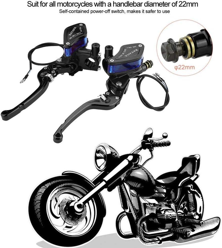 22mm Hauptbremszylinder Vorratshebel Universal Motorrad CNC Rollenverstellung Hydraulische Bremspumpe Schwarz//Orange//Titan Bremskupplung Bremsgriff Bremshebel Black