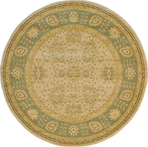 (Unique Loom Edinburgh Collection Oriental Traditional French Country Cream Round Rug (6' 0 x 6' 0) )