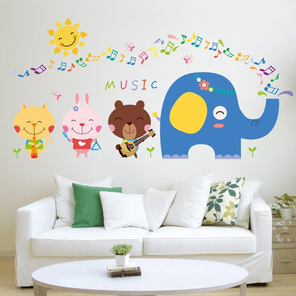 Amazon Musical Animals Fabric Wall Decals Set Of 8 Animals