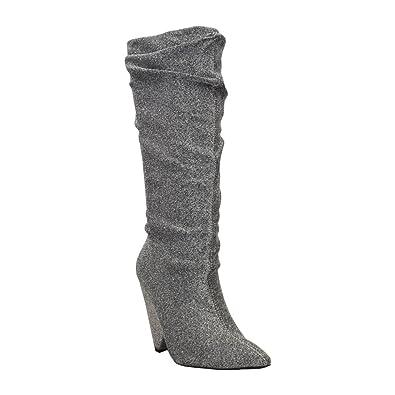 160834e075d Amazon.com | Qupid Wiley-01 Womens Western Chunky Heeled Knee High ...