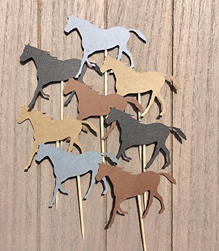 12 Horse Cupcake Toppers (Derby Centerpieces)