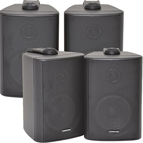 "4x SPEAKERS - 2 Way Compact Stereo Speakers - 3"" 60W 8Ohm - Black Mini..."