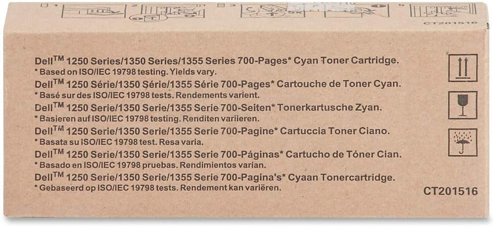 Dell YPXY8 1250 1350 1355 C1760 C1765 Toner Cartridge (Cyan) in Retail Packaging