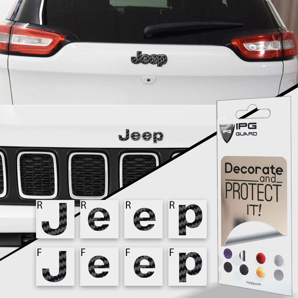 IPG for Jeep Steering Wheel Overlay Decal Vinyl Cover Set of 3 for Emblem Do it Yourself Stickers Set Personalize Your Jeep