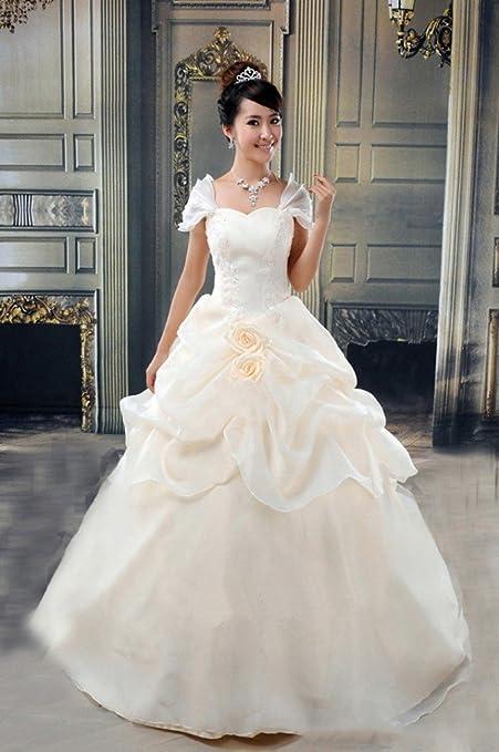 JJK Vestido de Novia Moderna Novia Dulce Y Elegante Princesa Qi Vestido de Novia de la