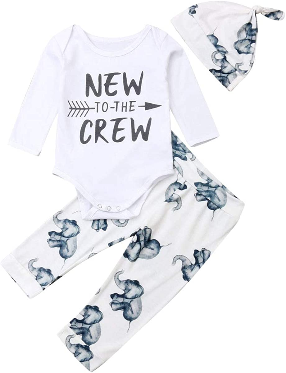 Infant Baby Boys Winter Outfits Clothes Hoodie Tops T Shirt+Long Pants Trousers