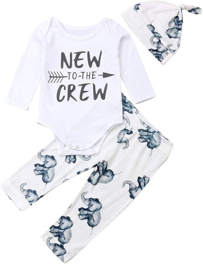 Amazon.com: Bebé recién nacido niña niño tops pelele ...