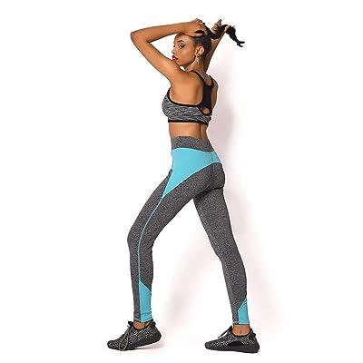 4 Colores para Mujer Moda Leggings Spandex Push Patchwork Bastante Up Cadera Leggings Adventure Time Workout Femme Legging Mujeres: Ropa y accesorios