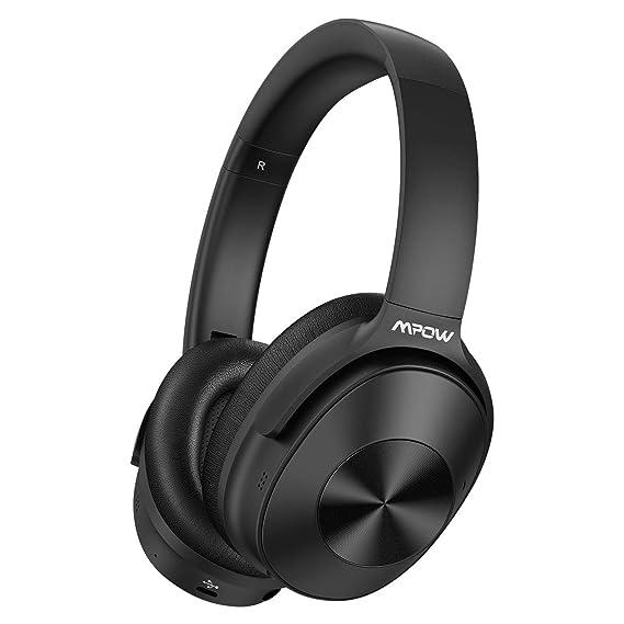 9c2fa4e302e Mpow Hybrid Active Noise Cancelling Headphones, Bluetooth Headphones Over  Ear [2019 Version] with