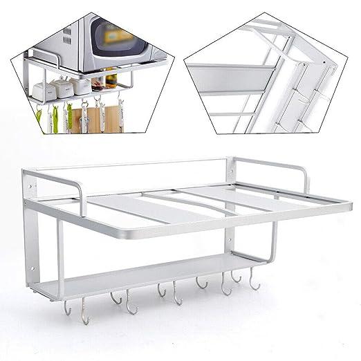 WANLECY - Estantería de cocina para microondas, soporte de ...