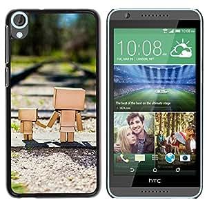 LECELL -- Funda protectora / Cubierta / Piel For HTC Desire 820 -- Cute Box Family --
