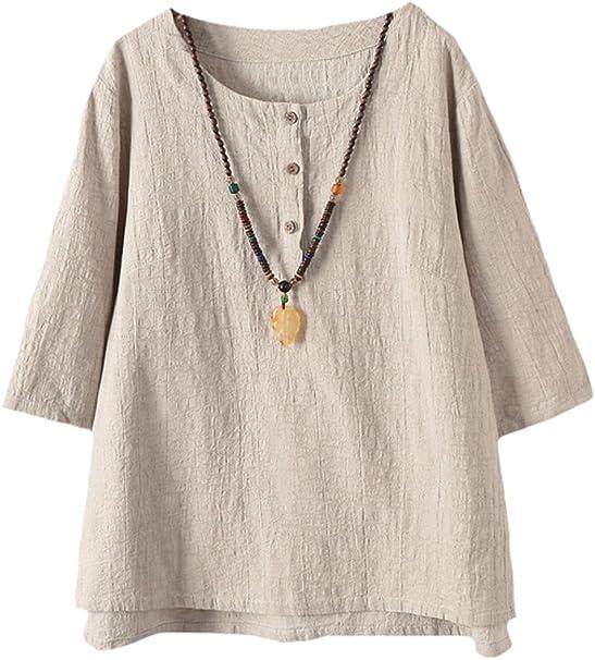 Più facile da Donna Estate Maglione Shirt Sweater Maglione Tunica 5 colori Taglia 34-46