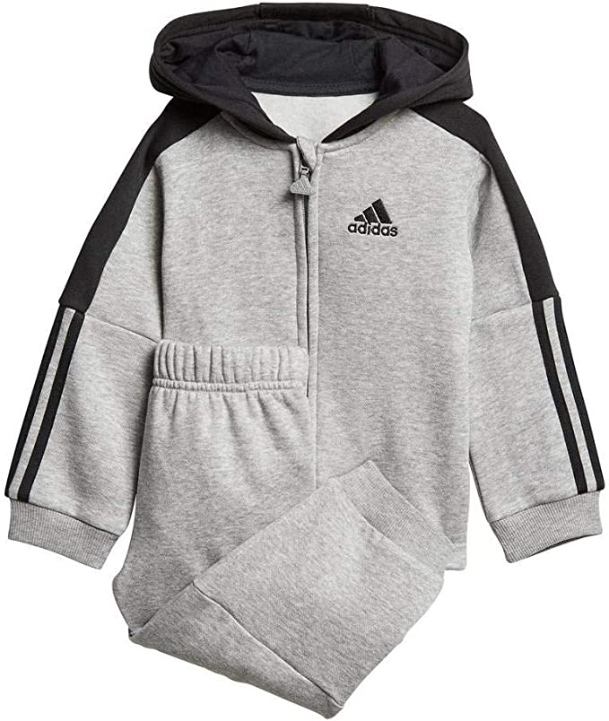 adidas Unisex Baby Logo Full Zip con Capucha Fleece Chándal ...