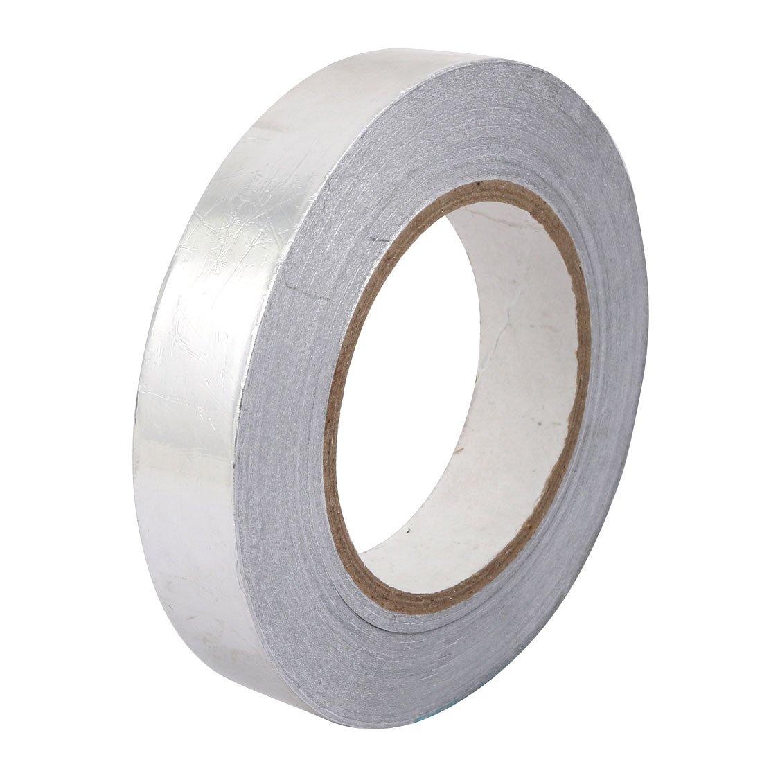 uxcell 25mm Width Anti-Radiation Aluminum Foil Tape Shield Duct Repair 50 Meters Length