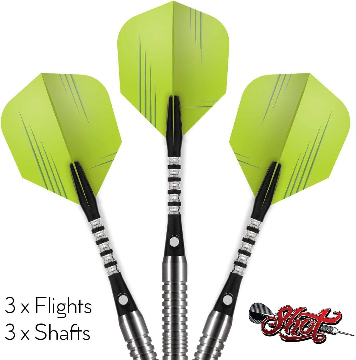 Shot 3 Sets of Small Standard Flights and 3 Sets of Inbetween Sized Shafts Per Pack Darts Zen Ki Flight /& Shaft Combo