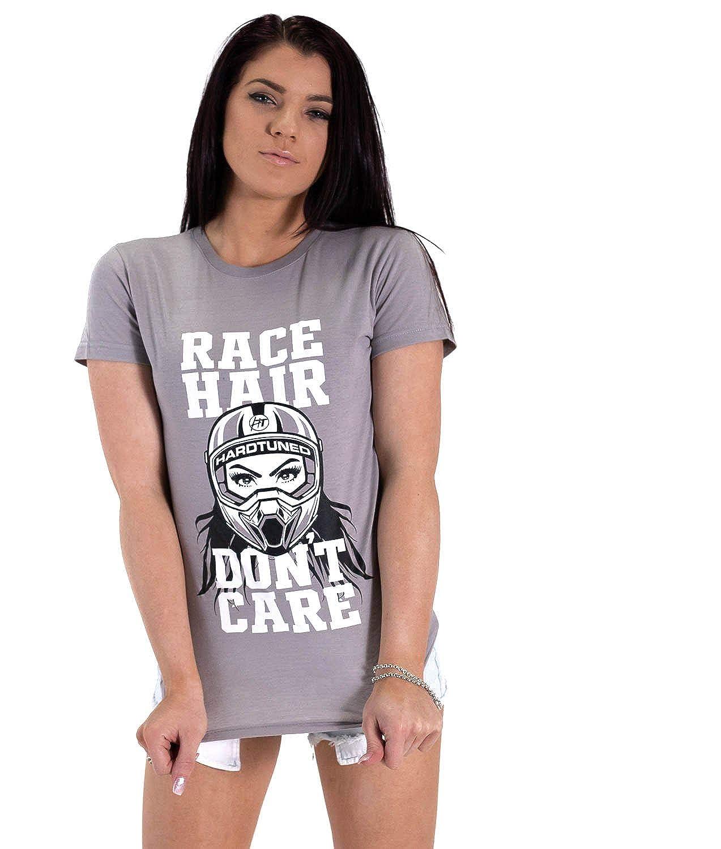Race Hair Don't Care JDM Drift Car Turbo Womens Tee Shirt