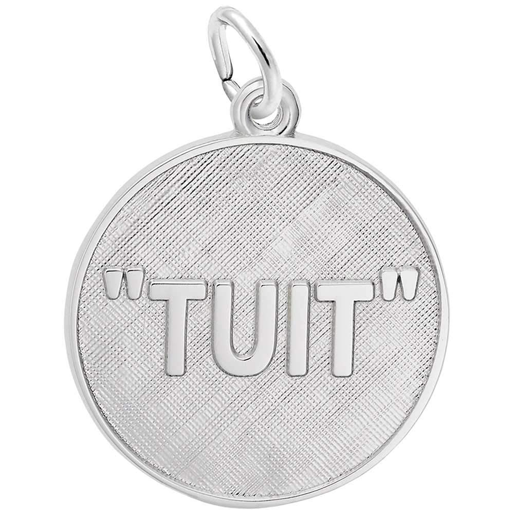 Rembrandt Charms A Round Tuit Charm, Sterling Silver