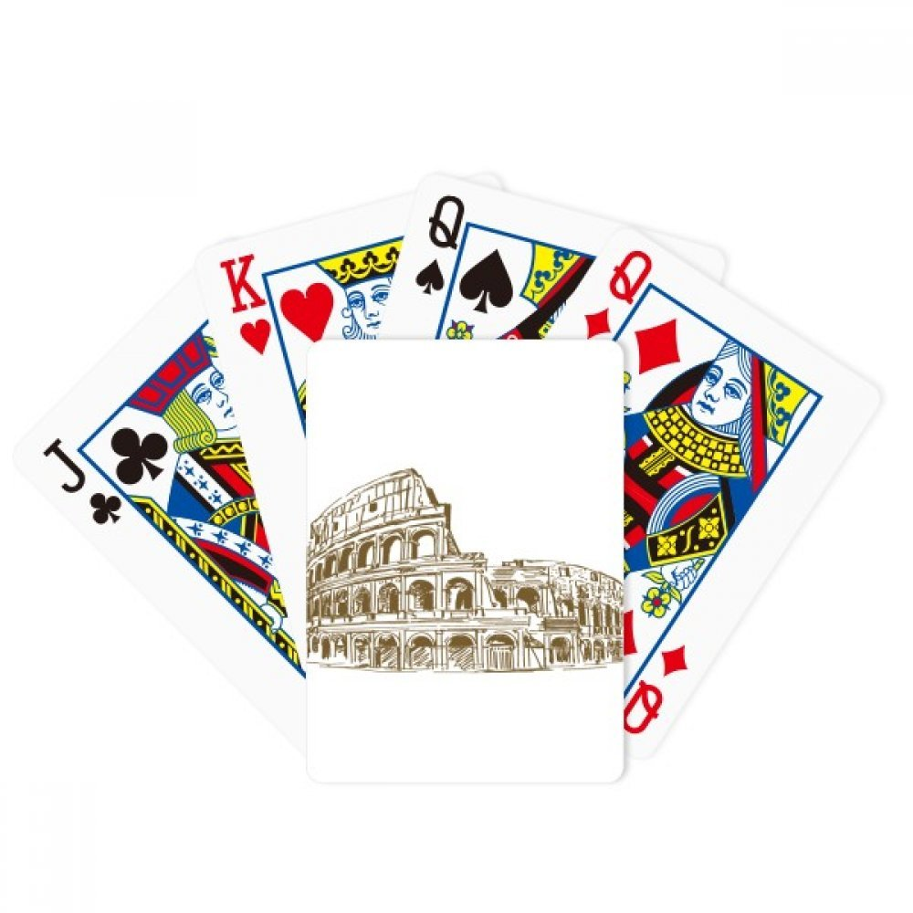 Italy Rome Landmark Sketch Landscape Poker Playing Cards Tabletop Game Gift