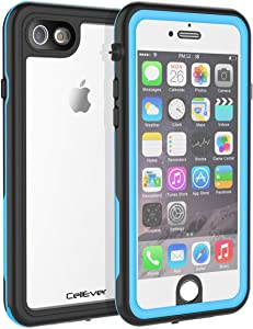 CellEver Compatible with iPhone 6 / 6s Waterproof Case Shockproof IP68 Certified SandProof Snowproof Full Body Protective Clear Transparent Cover Designed for iPhone 6 / 6s (4.7 Inch) KZ Sky Blue