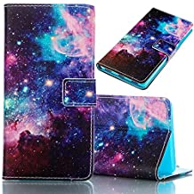 Samsung Galaxy S6 Case, Bonice Magnetic Snap Flip Standing Wallet Case Ultra Slim Antiscratch Shockproof Protective Cover-Pattern 01