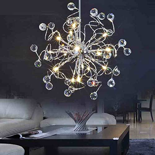 MAMEI 15 Lights LED Modern Crystal Chandelier Lighting for Living Room,Dining Room,Bedroom.
