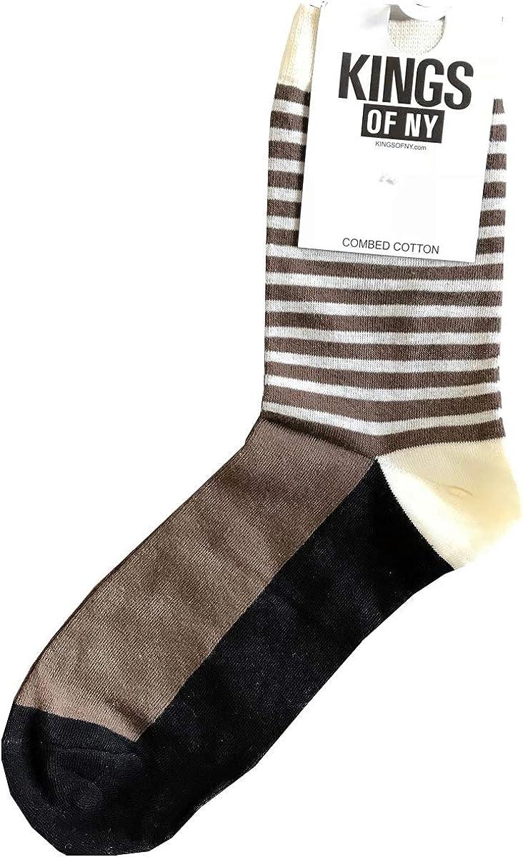 Color Block Mens Cotton Socks